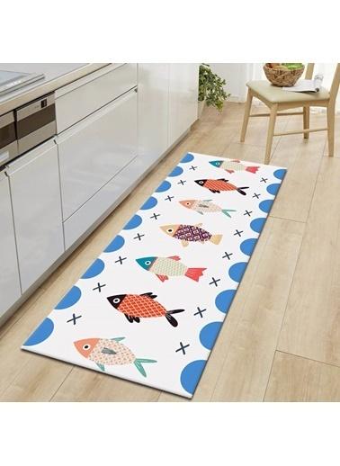 MarkaEv Kitchen 36 Mutfak Halısı Renkli